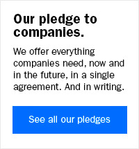 Our pledge to companies
